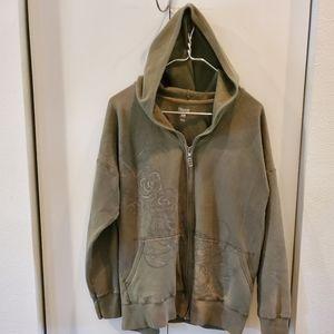 Hanes printed zip-up hoodie